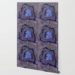 Quartz Inside Geode rustic decor Wallpaper
