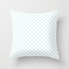 Aqua dots pattern Throw Pillow