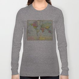Vintage Political Map of The World (1922) Long Sleeve T-shirt