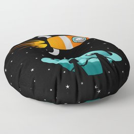 Somewhere in the Galaxy Floor Pillow