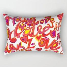 I Love you so much Rectangular Pillow