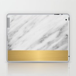 Carrara Italian Marble Holiday Gold Edition Laptop & iPad Skin