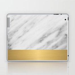 Carrara Italian Marble Holiday Gold Edition Laptop & iPad Skin