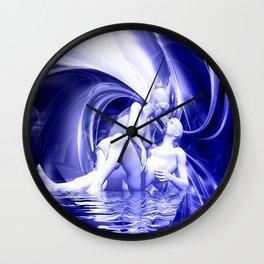 Blaue Lagune Wall Clock