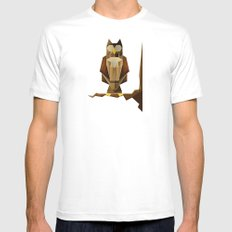 Owl riffic paper cutout vector jazz Mens Fitted Tee MEDIUM White