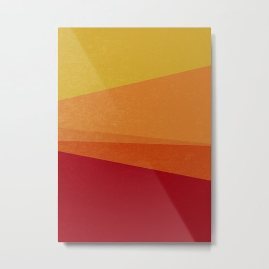 Stripe X Orange Peel Metal Print