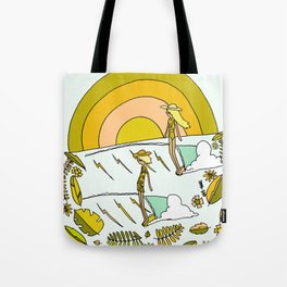 summer vibes forever // retro surf art by surfy birdy Tote Bag