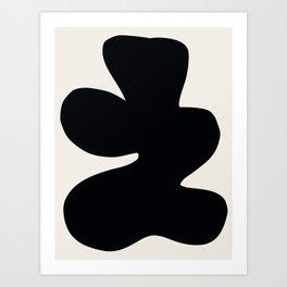 Black Abstract Shape G Art Print