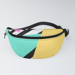 Abstract Triangles Fanny Pack