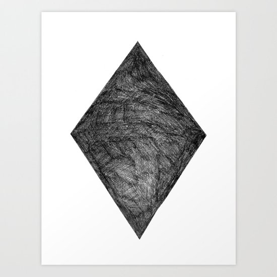 Graphite Diamond Art Print