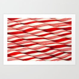 Candy Cane Pattern Art Print