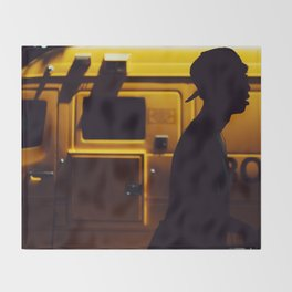 Yellow van Australian man Throw Blanket