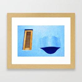 Window in Blue - Careyes, México Framed Art Print