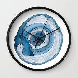 Blue Agate Painting Wall Clock