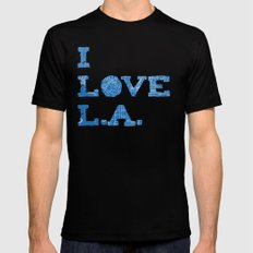 Los Angeles Street Map MEDIUM Black Mens Fitted Tee