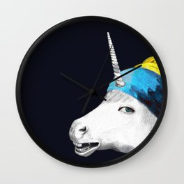 Cool Animal Art - Funny Unicorn Wall Clock