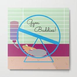 Gym Buddies Metal Print