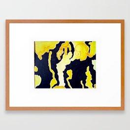 Smiling Yellow Framed Art Print