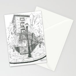 The house in the square Stationery Cards