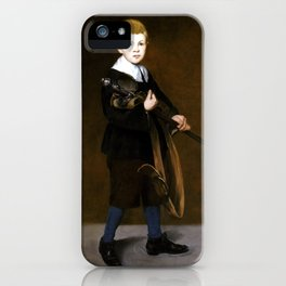 Édouard Manet Boy with a Sword iPhone Case