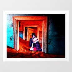 The Woman in the Dunes Art Print
