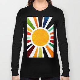 Sun Retro Art Long Sleeve T-shirt