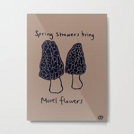 Morel Flowers Metal Print