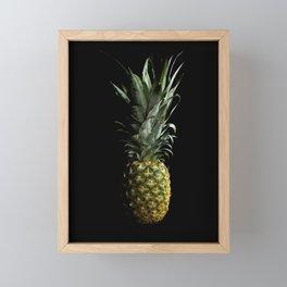 Dark Pineapple Framed Mini Art Print