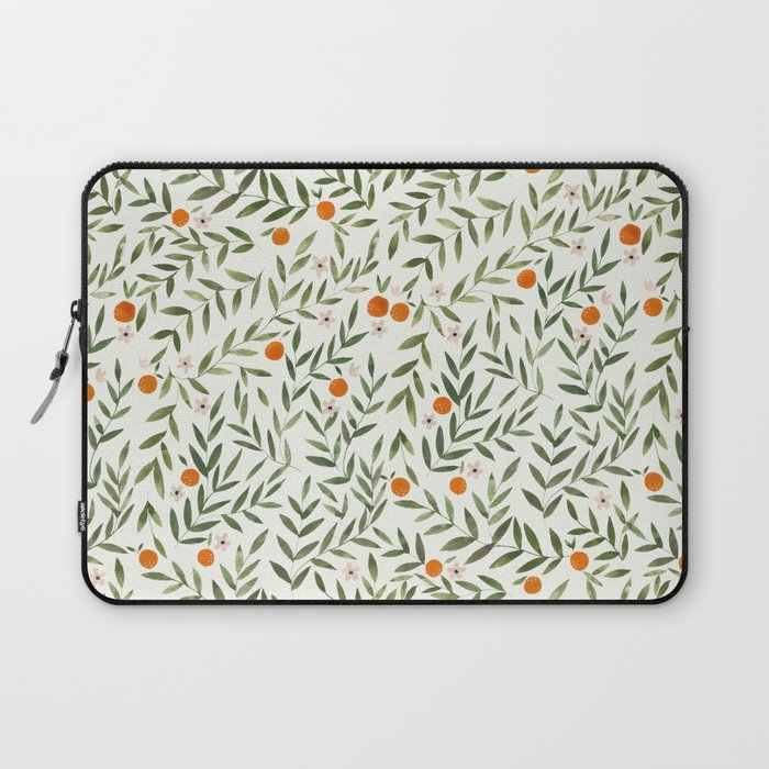 Oranges Foliage Laptop Sleeve