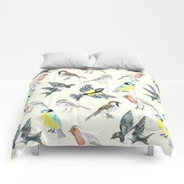 Illustrated Birds Comforters