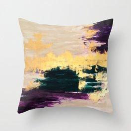 Sassenach Purple and Gold Throw Pillow