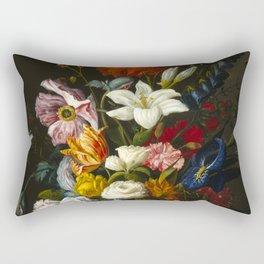 Victorian Bouquet by Severin Roesen Rectangular Pillow