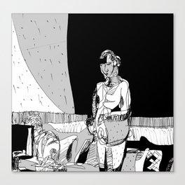 Portrait of EK Canvas Print