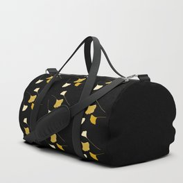 Golden Ginkgo Leaves Duffle Bag