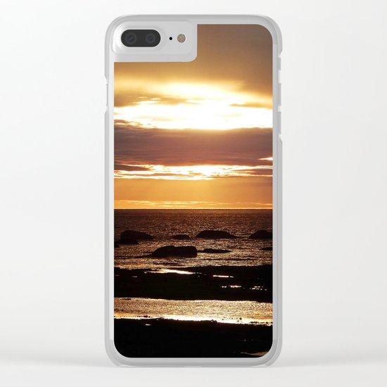 Copper Seascape Delight Clear iPhone Case