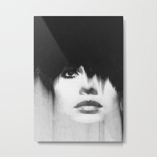 WOMEN (PORTRAIT) BLACK AND WHITE Metal Print