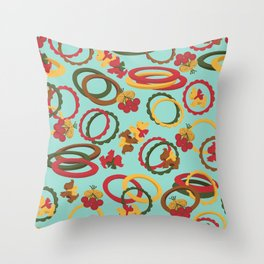Bakelite Bangles and Brooches Throw Pillow