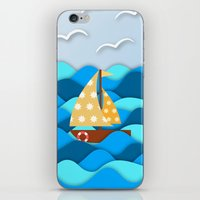 adventure iPhone & iPod Skins featuring Adventure by General Design Studio
