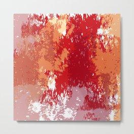 Red Orange Watercolor Metal Print