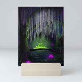 Frogs on a log Mini Art Print
