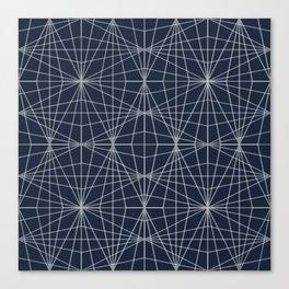 ECLIPSE BLUE GEOMETRICAL NO1 Canvas Print
