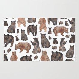 Woodland Bear Pattern Rug