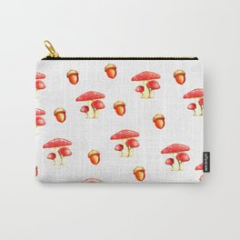 Mushrooms and Acorns Carry-All Pouch