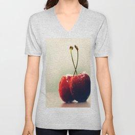 #Two #Gourmet #cherry Unisex V-Neck