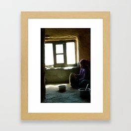 Making Cheese Framed Art Print