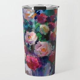 Flowers on The Garden Table Travel Mug