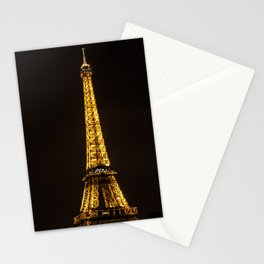 Golden Eiffel Tower Stationery Cards