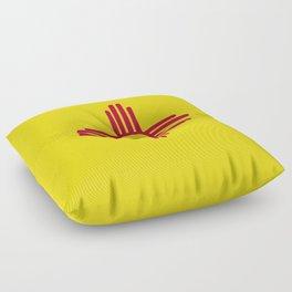 New Mexico Flag Floor Pillow