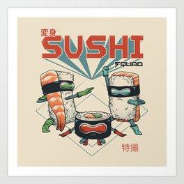 Sushi Squad Art Print