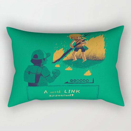 a wild link appeared Rectangular Pillow